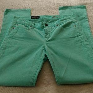 J. Crew Matchstick Mint Green Corduroy Pants